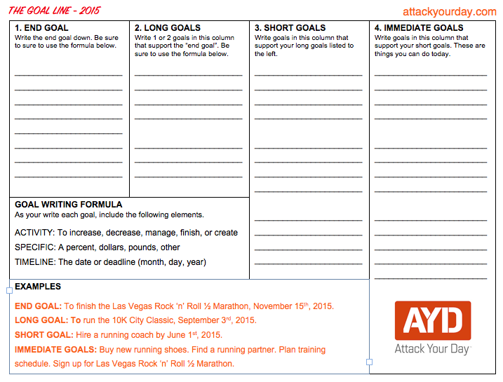 Attack Your Day Goal Template