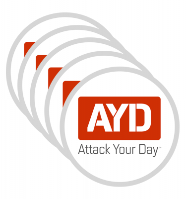 Attack Your Day Sticker - 30 Pack
